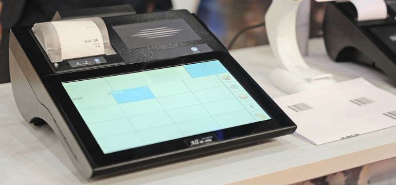 Kassaregister Touchscreen